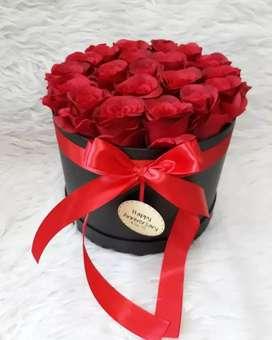 Bunga box spesial valentine ELEANOR FLORIST