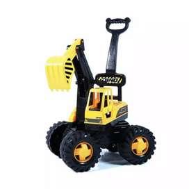 Mobil excavator dorong