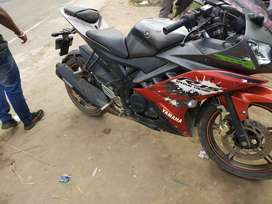 R15 version 2 special orition bike only 12000 km run..