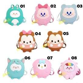 Idolabags - Tas Ransel Anak Jelly Karakter Lucu  Backpack Minimalis