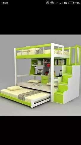 Tempat tidur / dipan tingkat anak