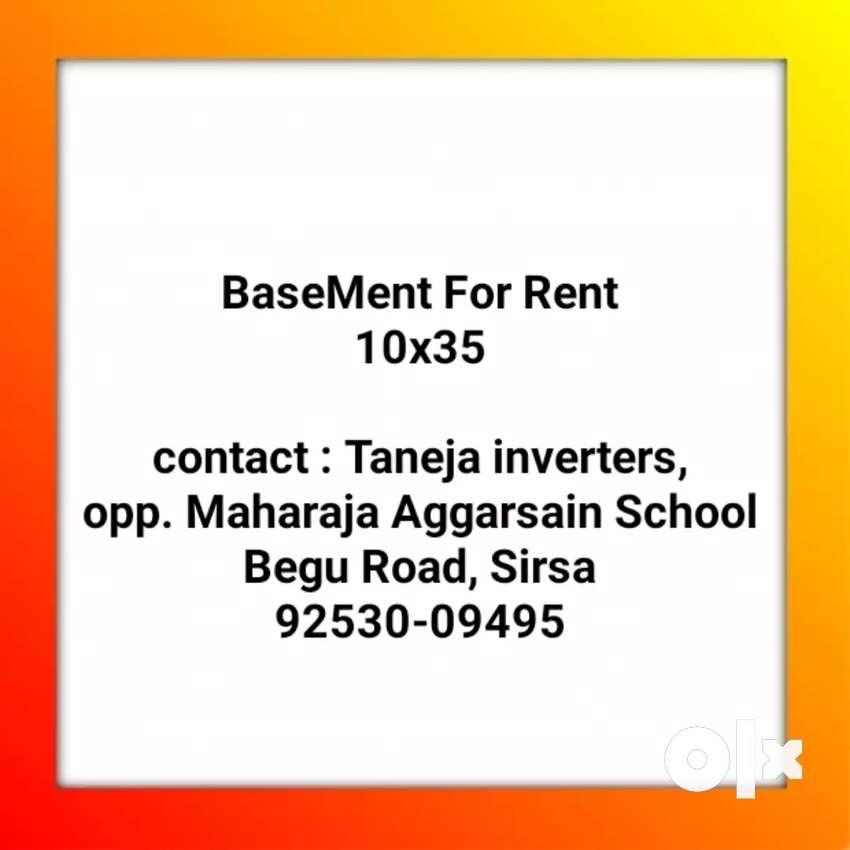 Basement available 10x36 Begu Road, Sirsa, near Co-operative bank 0