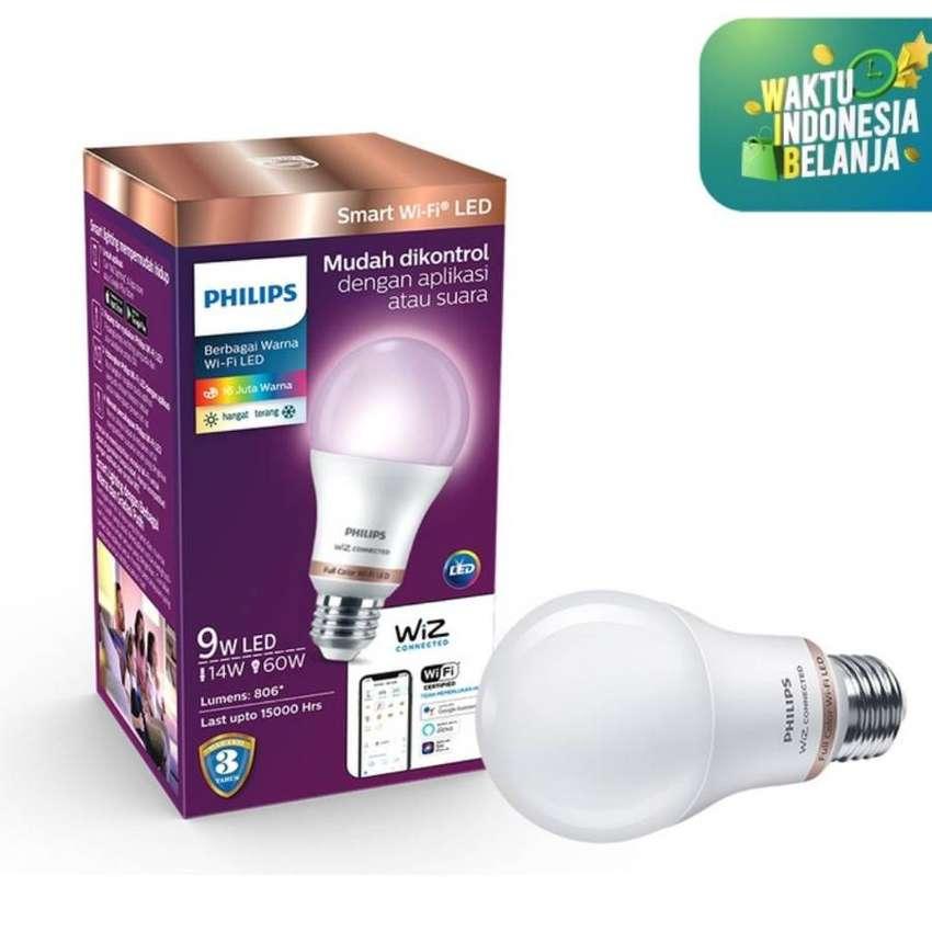 philips lampu smart wifi led 9w color and tunable white warna warni