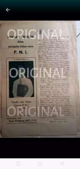 Selebaran amanat Presiden Sukarno 1957