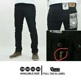 Celana jeans famous black