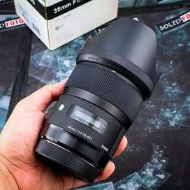 Sigma 35mm F1.4 DG ART. for Canon. FULLSET. Mulus banget