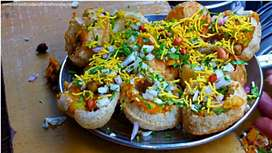 Pani puri salling boy for food counter requirement...