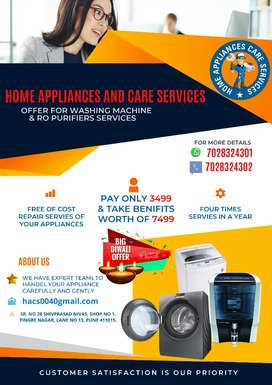 AMC on Water Purifiers & Washing Machines