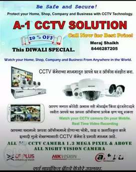Cctv camera, video door phone. System available.