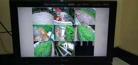 Paket Pemasangan 3 Kamera Cctv Dahua 2 MP Full HD Lengkap