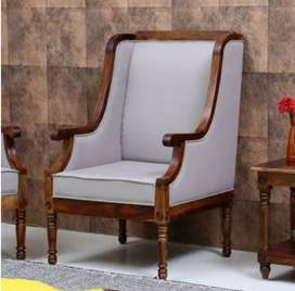 Wooden wings chair with 5 years of warranty