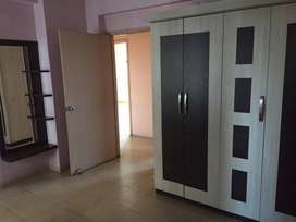 A 3bhk semi-furnished flat at PP Compound, main road is for rent.