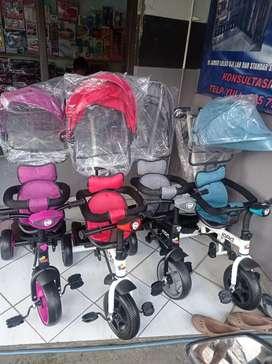 Sepeda roda 3 sepeda stroller
