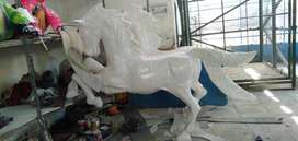odong odong patung kuda putih AR odong odong lampu hias