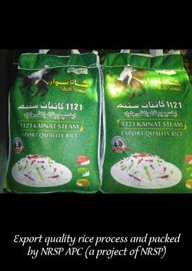 Kainat Steam 1121 Export Quality Rice Processed At NRSP-APC