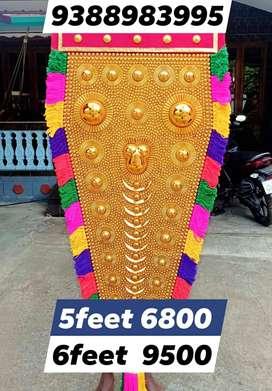 Traditional NETTIPATTAM നെറ്റിപ്പട്ടം 5feet 6800