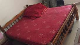 Double cot with mattress