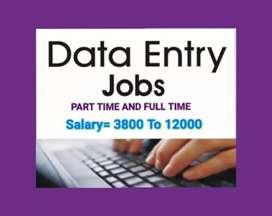 Urgent requirment home best data entry job