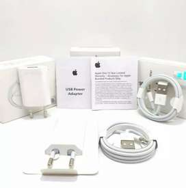 Charger iPhone ORIGINAL Kaki 2 Segel Resmi iBox