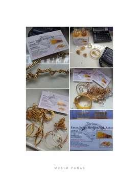 Dibeli Harga Tinggi Emas Perhiasan/LM Antam/Berlian/Tanpa Surat OK/COD