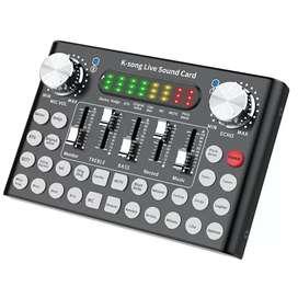 Mixer USB Sound Card Amplifier Live Broadcas Recording Special Effec