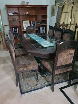 Sheesham wood dining with 8 chairs