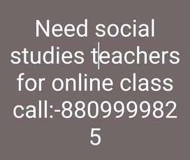 Need experienced teacher who can teach in english