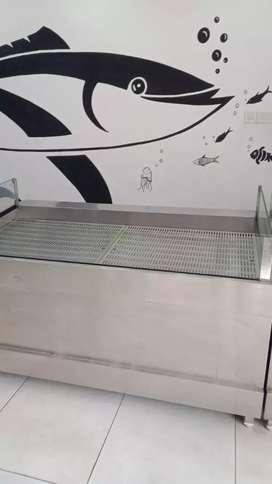 Fish display chiller 304 grade  compressor  Huayi