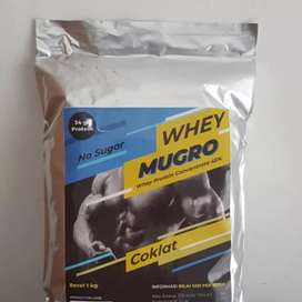 Susu gym protein concentrate whey mugro milk powder 1 kg