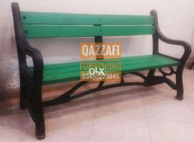 Fiber bench garden bench Three seater