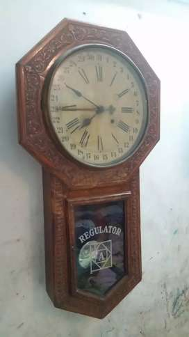 1860s Antiques Ansonia made in USA Large wooden Clock