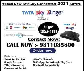 TATA SKY BINGE PLUS ANDROID BOX WITH 4K QULITY