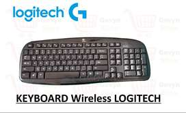 Keyboard Logitech MK220 Keyboard Wireless Laptop Komputer Bluetooth