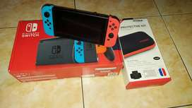 Nintendo Switch V2 Neon Red Blue second
