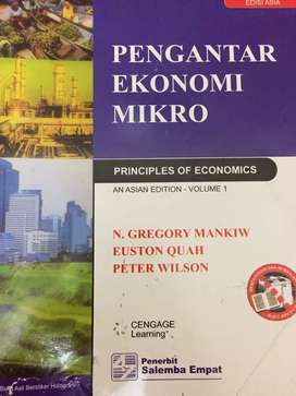 Buku pengantar ekonomi mikro by gregory mankiw
