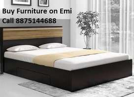 Factory Retail open  New Double bed With Box 7199/-