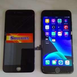 Lcd Touchscreen Iphone 7 Plus Hitam Black + Pasang