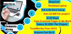 There are some limited seats in our company of data entry operator