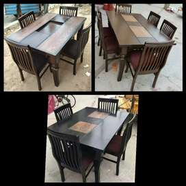New 4 chairs wooden dinning table set 11000 free delivery