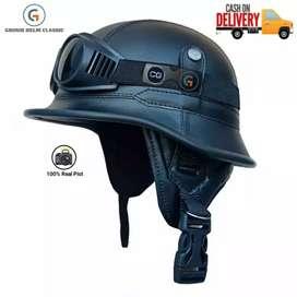 helm retro nazi kulit,helm klasik,helm kulit