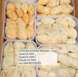 DURIAN KUPAS MEDAN-+1kg FROZEN FOOD