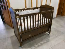 Baby Cot with Mattress Excellent Condition