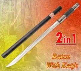 Baton Stick Tongkat Knife