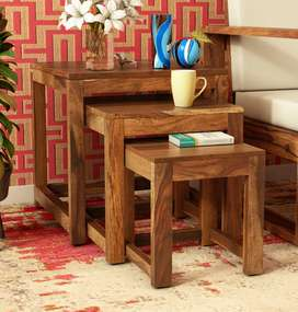 Nested Table Set Varieties. All Brand New in Sheesham Wood.