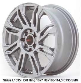 Harga velg SIRIUS L1535 HSR R16X7 H8X100-114,3 ET35 SMG