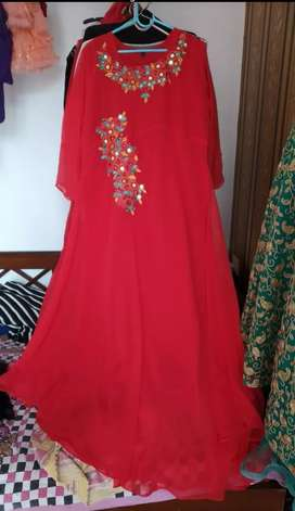 Gown, new , red color