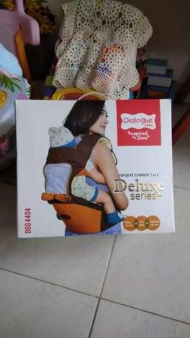 Gendongan Bayi Hipseat Dialogue Baby 7 in 1 DGG-4404 - Kuning Coklat
