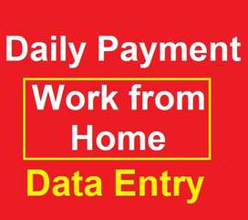 Work from Home - Daily payment Data Entry Jobs