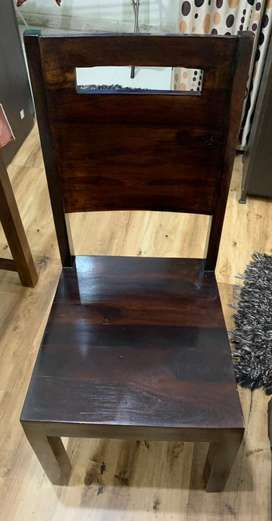 Brand New Chair 4 Days old Solid wood well polished