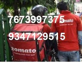 Food delivery executives in Hyd Full or part time